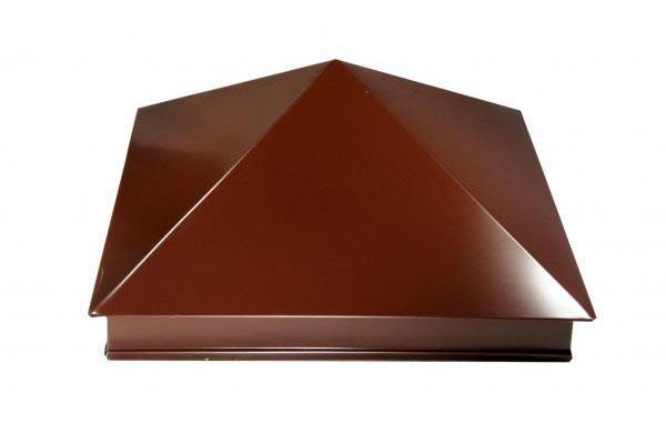 Колпак для кирпичного столба на забор 520х520мм (полиэстер)