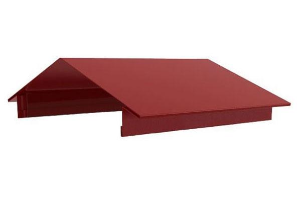 Конек на забор №3 (двухскатный с выносом). Длина1,25м; 2,0м; 3,0м (полиэстер)
